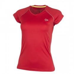 Camiseta Dunlop Club Woman Roja
