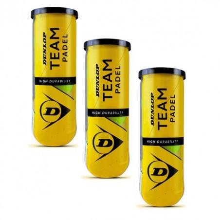 Tripack Pelotas Dunlop TEAM Padel