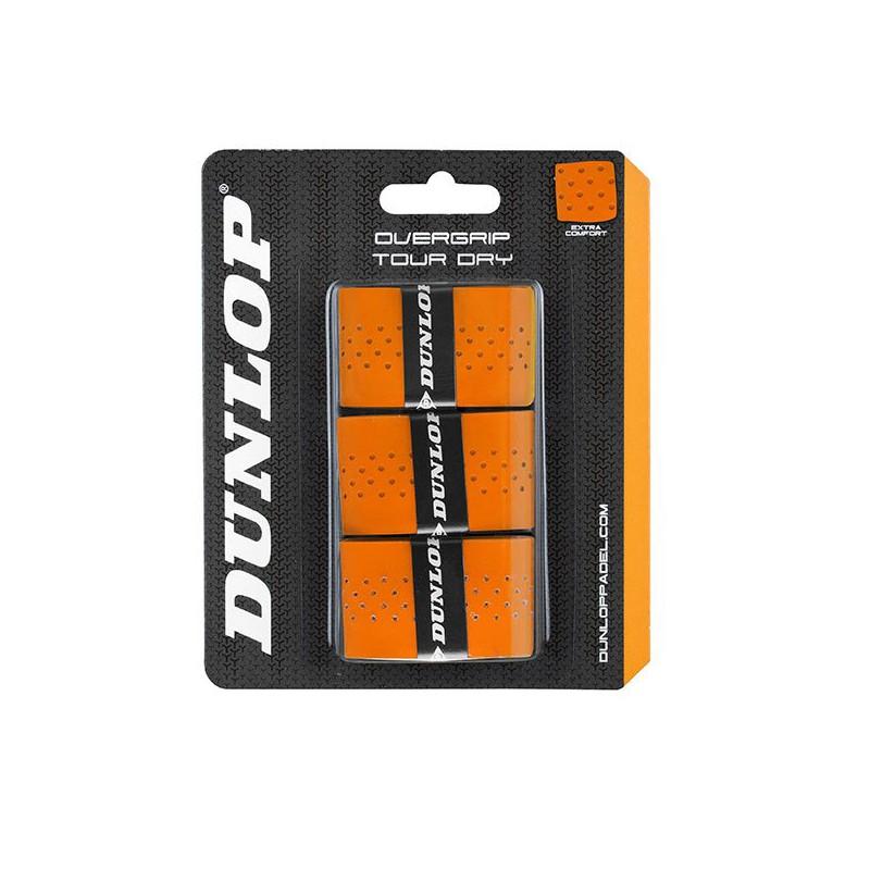 Overgrips Dunlop Tour Dry Naranjas Perforados
