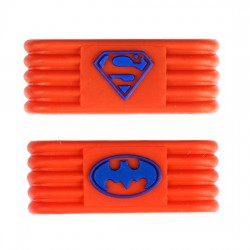 Ring Sujeta Grip Naranja-Azul Batman-Superman