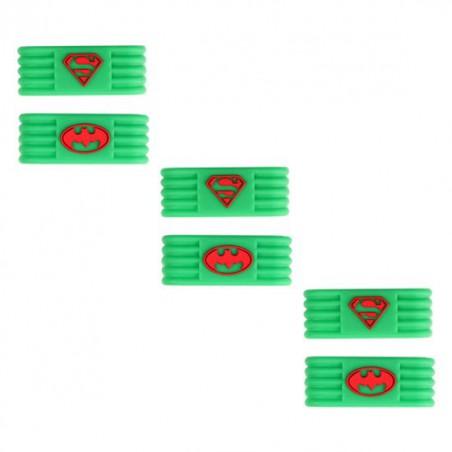 Ring Sujeta Grip Verde Batman-Superman (3 Unidades)