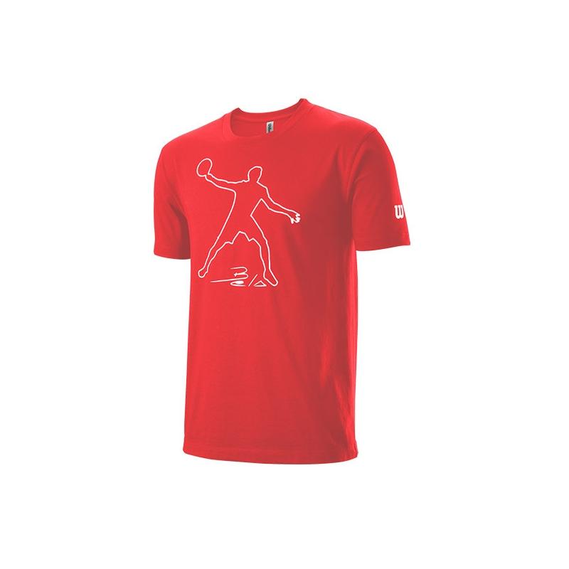 Camiseta Wilson Tech Bela Roja