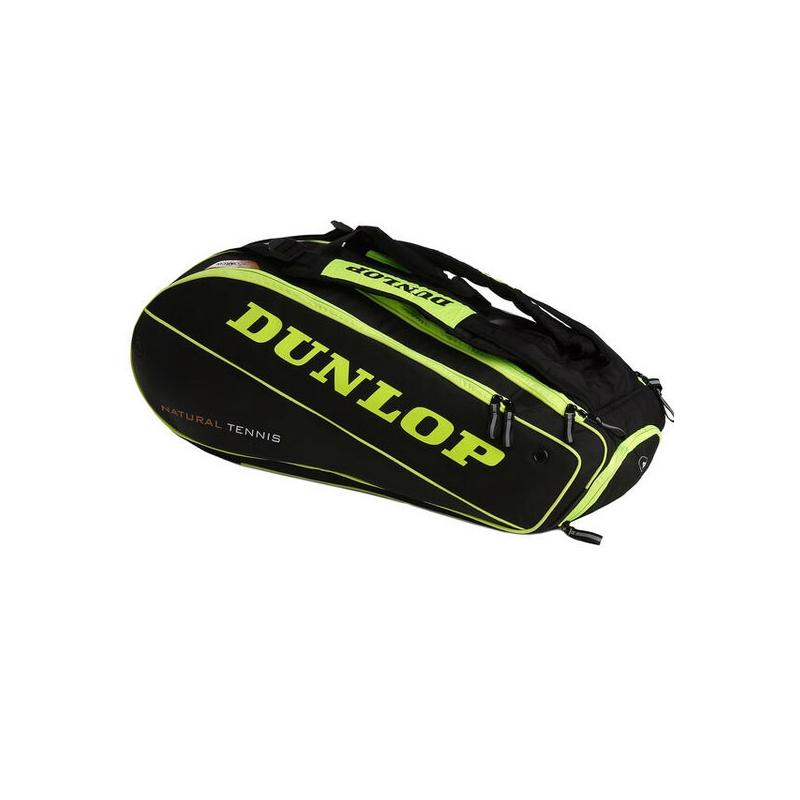 Raquetero Dunlop Nt 12 Amarillo