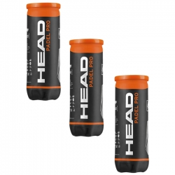 tripack Pelotas Head Padel Pro