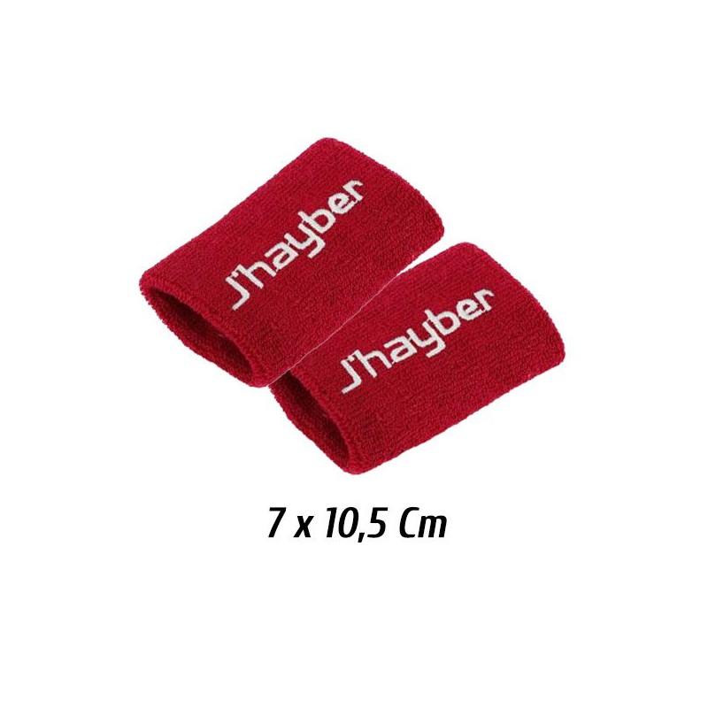 Muñequeras Jhayber rojas (Pack 2 Unidades)